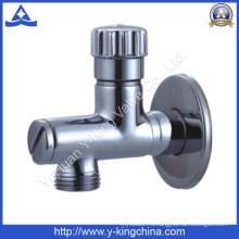Латунный угловой клапан с пластиковой ручкой для водяного клапана (YD-5034)