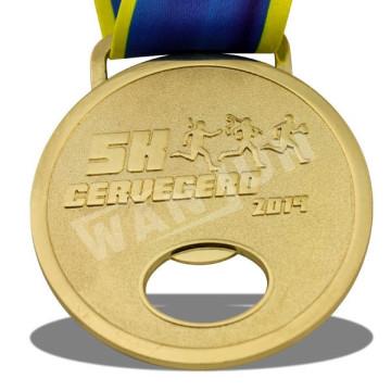 Функция открывания бутылок высокого качества Metal Gold 5K Medal