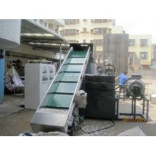 PE film pp woven bag side force feeding plastic recycling pelletizer machine