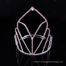 Einfache Design Crown Rhinestone Tiara Kristall Kronen