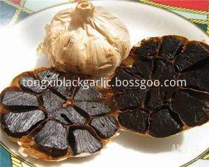 whole blakc garlic