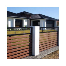 Easy Install WPC Garden Fence Wood Plastic Composite Fence Factory