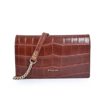 Cartera Minimalista Bolso Clutch de Cuero Everyday Purse Croc