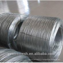 Fil en acier galfan galvanisé à chaud (alliage Zn & Al) Fabrication fournissant directement