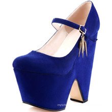 wholesale cheap blue black platform pump shoes from china