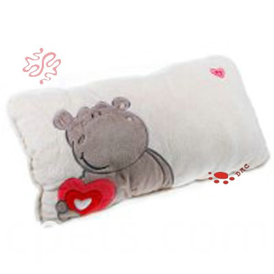 bear with heart plush cushion
