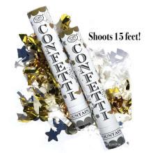 (Paquet de 12) Grand (12 pouces) Canons Confettis Air comprimé Party Poppers intérieur et extérieur Coffre-fort Parfait pour toute fête Nouvel An