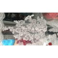 GR-01 New Arrival Lace Appliques Wedding Veil 3 Meters One Layer Long Bridal Veils