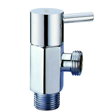 Brass faucet angle stop valve for bathroom sink