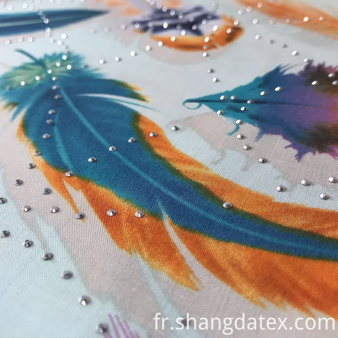 feather design rayon fabric