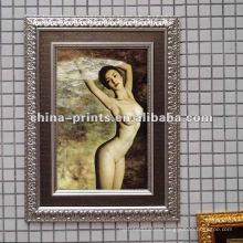 Lona desnuda atractiva caliente de la pintura del arte de las muchachas