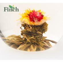 Nova Chegada Chinesa Chá Fujian Mini Flor Bola De Chá Com Sabor Limão Blooming Chá Embalagem A Vácuo