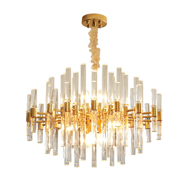 Beaded Large Round Chandelier