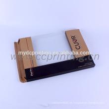 Kundenspezifischer brauner Kraftpapier-Papierkasten mit Fenster für elektronische Produkte