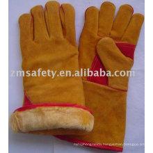 Safety cow split leather winter welding working gloves ZM65-H