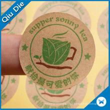Производитель Дешевые этикетки наклейки для крафт-бумаги для еды, чая, одежды