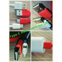 Não direcional do cabo de dados USB2.0 macho para tipo C para Le2 Smartphone