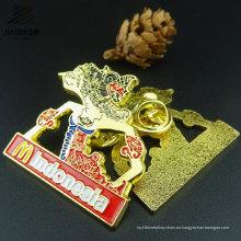 Insignia de encargo del regalo de la promoción insignia del Pin de la solapa del metal del Pin del esmalte del oro