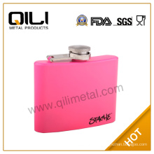 Painting stainless steel spray paint hip flask with printing