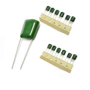 104j250V 682j 1600V filme de poliéster verde Capacitorcl11 0.1 UF 400V