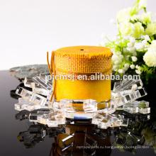Прочное использование низкая цена европейский стиль кристалл стекло подсвечники на продажу