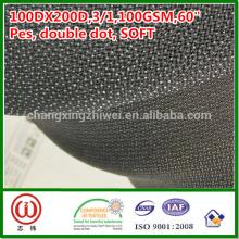 100% poliéster suave handfeel 100gsm tejido fusible interlineado