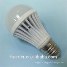 Vente chaude5730 SMD aluminium 5w 7w 9w 12w b22 e27 porte-lampe