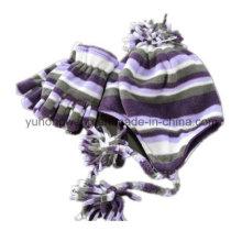 Personalizado de señora tejiendo Invierno cálido impreso Polar Fleece Set