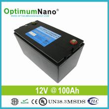 Глубокая батарея лития цикла батареи 12V 100ah для Солнечной свет