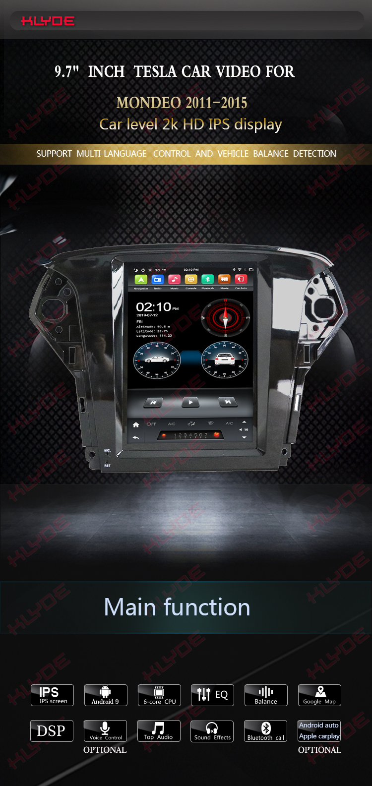 android radio for Ford Mondeo 2011