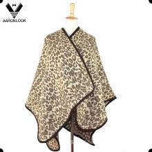 New Fashion Jacquard Leopard Shawl and Poncho