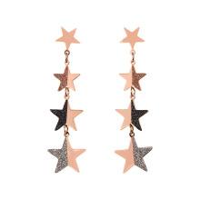 Right Grand Personalized Stainless steel female earring Korean style simple long tassel pendant earrings women dangle earrings