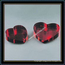 Heart Shaped Crystal Blank with Different Color