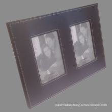 4X6 Leather Photo Frame with Two Views