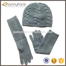 Mais ganhe material personalizado de caxemira chapeado e macio chapéu de gorila e conjuntos de luvas de cabo