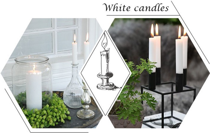white wax household candle