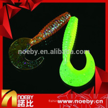 2015 New Japanese NOEBY Double Color Saltwater Soft Plastic Fish Bait Fishing Lure with Shrimp Smell for Lure Fishing