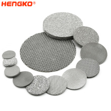 Sintered Stainless Steel 304 316L Porous Round Strainer Filter Disc 0.2-120um Sintered Metal Filter Disc For Hydraulic Oil