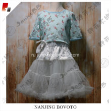 JannyBB new design wholesale white tutu skirt