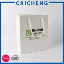 Custom printing cheap coated paper bag with logo printed