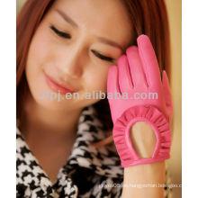 2013 Handschuh Mode Zubehör kurz gefingert Leder Handschuhe