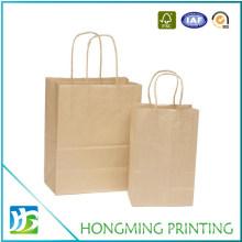Custom Brown Kraft Fast Food Paper Bag