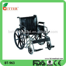Modern style Extra Wide Leather Seat wheelchair