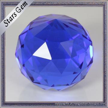 As facetas azuis redondas da cor do único ponto enfrentam os grânulos da bola de vidro K9 para ofícios