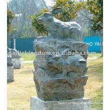 Encantadora pedra de coelho escultura