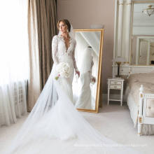 Soft and Flowing 2 in 1 Wedding Dress