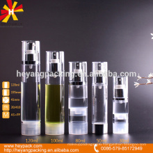 AS material airless spray pump bottle
