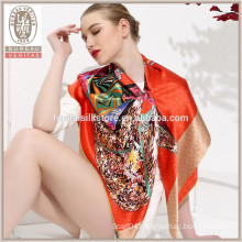 Butterfly design Wholesale 100% silk stole shawl scarf