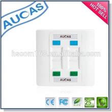 Cat5e cat6 Netzwerk rj45 4 Port Faceplate / Porzellan Fabrik Preis uk uns Faceplate / systimax einzigen Dual-Port-Wandplatte