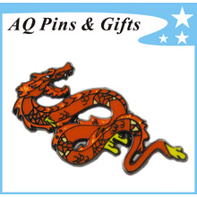 15-Year Manufacturer Metal Dragon Badge with Soft Cloisonne and Glitter (badge-145)